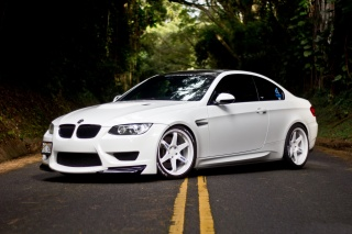 bmw, e92, white, BMW, M3, car, road, tuning, forest