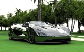 Авто, суперкар, пальмы