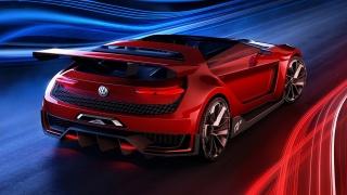 Volkswagen GTI Roadster, Фольксваген, авто шик, красота, Красный