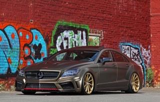 Mercedes Benz, cls 350, mercedes benz, superauta, zeď, Graffiti