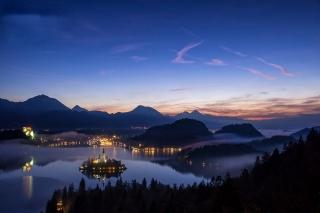 Словенія, бледское озеро, гори, озеро, острів