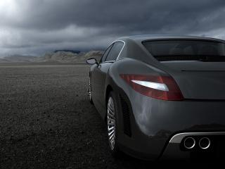 avto, spokojstvie, pustynya