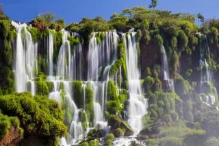 Водоспади Ігуасу, чудеса природи, вода, зелень, небо, краса
