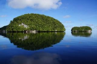 Палау, острів, зелень, небо, вода, краса