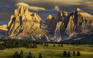 альпе-ді-с'юзі, Італія, природа, гори, доломіти