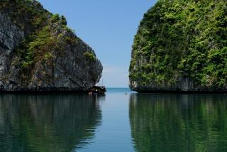 в'єтнам, скелі, вода, небо, зелень, краса