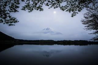 Японія, Японія, Фуджі, вулкан, гора, озеро, небо, хмари