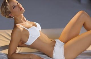 Svenja Parotat, sexy, figure, legs, face, eyes, hair, linen, view, beauty