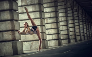 girl, gymnast, twine, STRETCHING