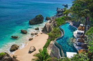 Индонезия, дом и уют, тропики, океан, пляж, камни, скалы, рай