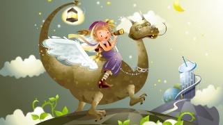 арт, дракончик, мальчик, фантазия, настроение, сказка