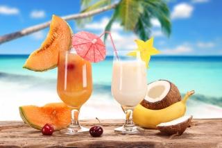 cocktails, cervical, juice, cocktails, summer, delicious, background, Palma, the ocean, fruit