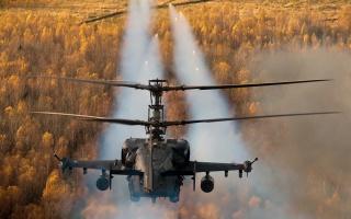 Vrtulník, akce, letí