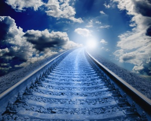 railway, the way, rails, sleepers, the sky, photoshop, light, creative, clouds, fantasy, fantasy