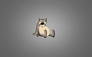 there once was a dog, folk, cartoon, wolf, paunchy, character, grey background, now I will sing