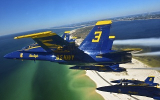 letadla, stíhačky, let, rychlost, síla, moře, záliv, pláž, nejvyšší létání