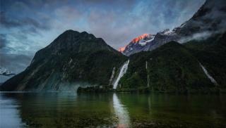 природа, водопад, горы, красиво