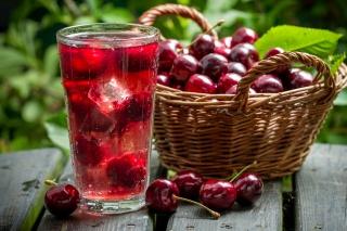 basket, cherry, drink, Fruit, basket, cherry, drink, fruit