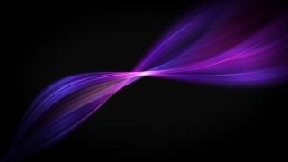pozadí, černá, Fialová, fialová, linky, vlna, krásně
