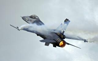 letadlo, belgické f-16, síla, vzestup, rychlost, красава
