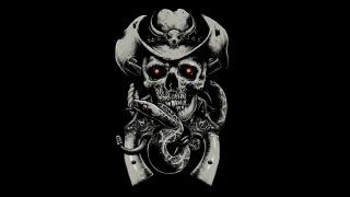 череп, револьвер