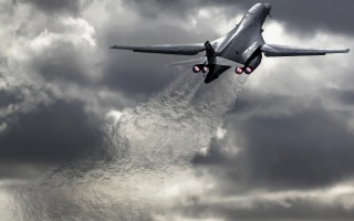 the plane, the rise, speed, engine, fire, the sky, clouds