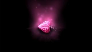 кулон, підвіска, сердечко, ланцюжок, Рожеве, серце, світло