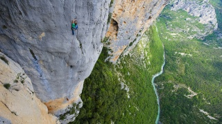 man, cliffhanger, nature, mountains, beautiful, landscape, river, forest, extreme