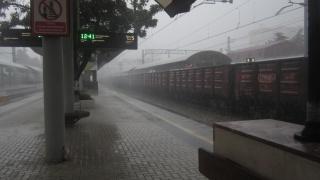 train, station, cars, railway