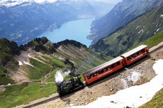 train, composition, tour, nature, beautiful