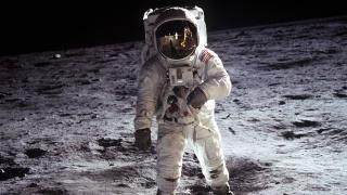 the moon, astronaut
