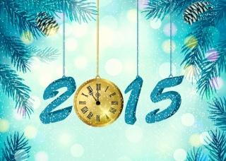 Новий рік, 2015, арт, робота, свято, креатив, годинник, фентезі