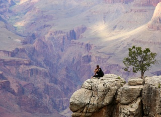 nature, the Grand canyon, tourist, cliffhanger, cliff, beautiful