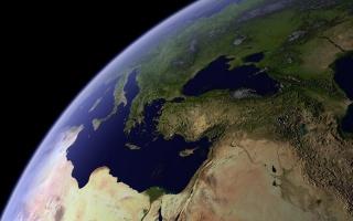 space, photo, earth, black, Mediterranean sea, the Caspian sea, Eurasia, Europe, Ukraine, the Bosphorus, Italy, Antalya