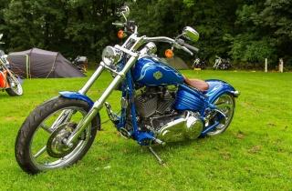 Harley Davidson, the bike, blue