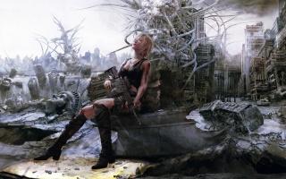 3 Narozeniny, Parazit Eva, dívka bojovník, automat, kataklyzma