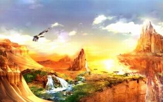 гори, пустиня, водоспад, ЗЕБРИ
