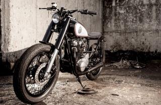 motorcycle, the bike, black