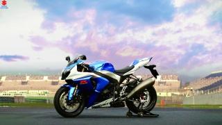 Suzuka, the bike, the stadium, sports, speed, beauty, the sky, blue