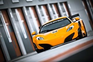 McLaren, спорткар, жовтий, фари