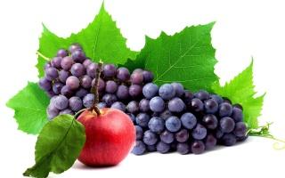 Apple, grapes