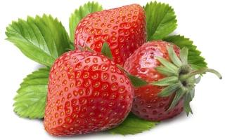 Three, strawberries