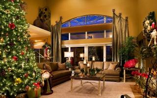 Різдво, ялинка, свято, Новий рік, прикраси