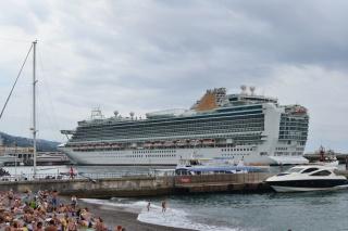 Yalta, sea, cruise liner