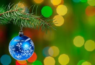 vánoční strom, větvička, Елочное dekorace, míč, boke