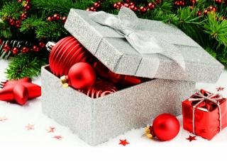 box, nový rok, Hračky, červené, vánoční strom, vánoční strom, korálky