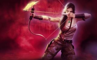 Tomb Raider, Lara Croft, fire arrow, bow