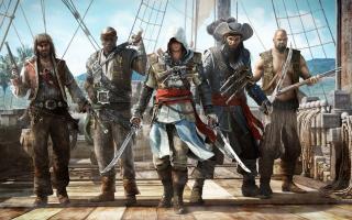 assassins creed 4 black flag, Killer, ship, pirates