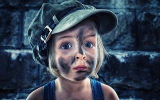 dívka, čepice, pohled