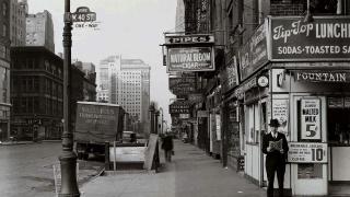 new-york, město, v roce 1940, město, ulice
